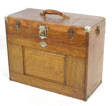 1003: H. GERSTNER OAK MACHINIST BOX