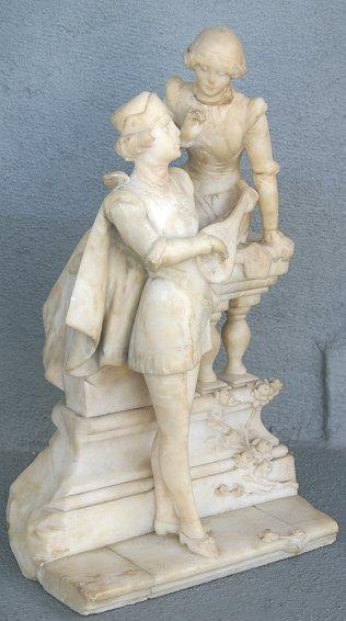 1022:  1900  ITALIAN MARBLE SCULPTURE CIPRIANI