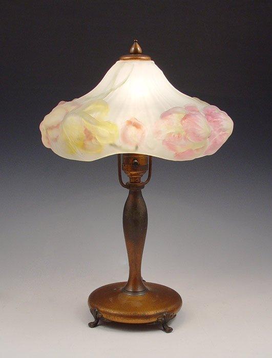 8: PAIRPOINT PUFFY BOUDOIR LAMP 3047 1/2
