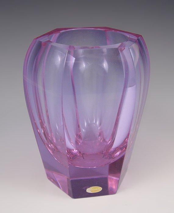 213: MOSER GLASS VASE