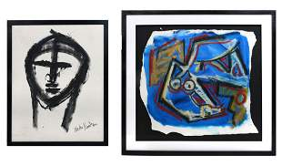 TWO NEITH NEVELSON PAINTINGS