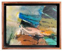 SYD SOLOMON ABSTRACT PAINTING TITLED HALCYON