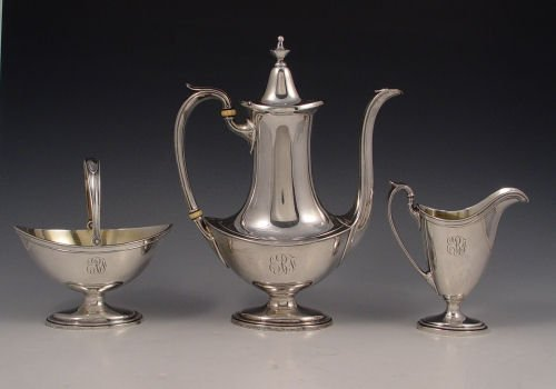 15: 3 PIECE GORHAM STERLING TEA SET