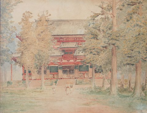 16: KIOTO TEMPLE PAINTING BY BUNSAI IOKI