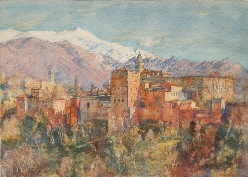 18: APPERLEY WATERCOLOR PAINTING ALHAMBRA