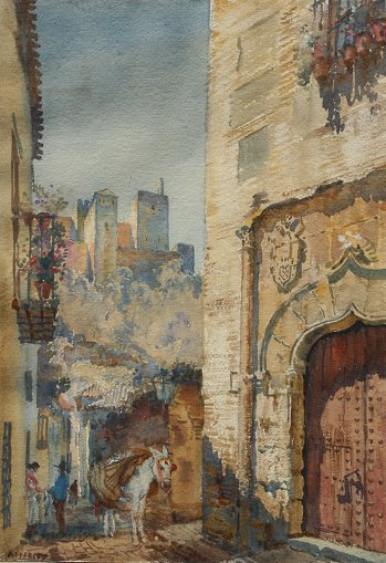 18B: APPERLEY WATERCOLOR PAINTING GRANADA