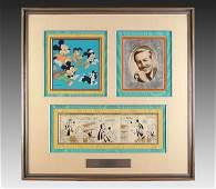 243 1965 DISNEY MICKEY  GOOFY ORIGINAL CARTOON ART