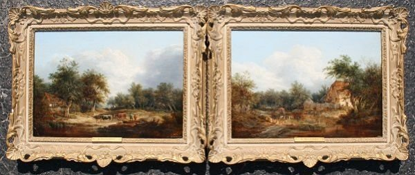 22: PAIR OF EDWARD ? WILLIAMS PAINTINGS