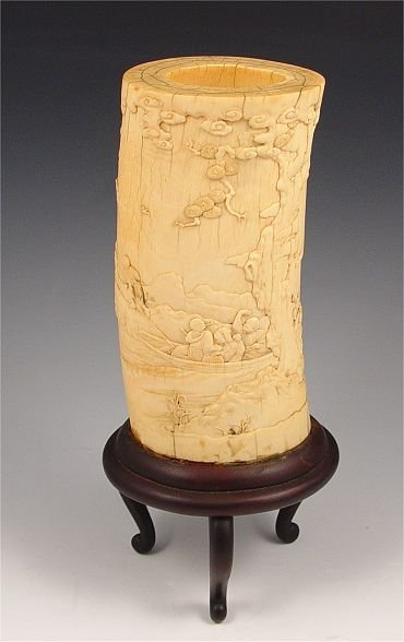 211A: CHINESE CARVED IVORY TUSK