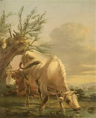 EXCEPTIONAL PAINTING OF COWS POSSIBLY VAN DONGEN