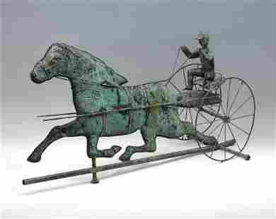HORSE & SULKY COPPER WEATHERVANE
