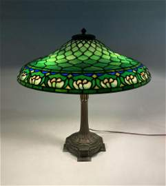 DUFFNER KIMBERLY WATERLILY LEADED GLASS LAMP