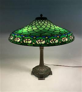 DUFFNER KIMBERLY WATERLILY LEADED GLASS LAMP