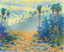 THE BEST LARGE GREG BEHYMER FLORIDA PAINTING