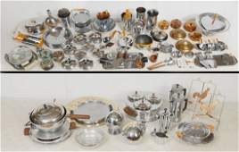 LARGE COLLECTION OF ART DECO CHASE CHROMIUM