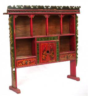 19TH CENTURY CHINESE LACQUERED DISPLAY CABINET