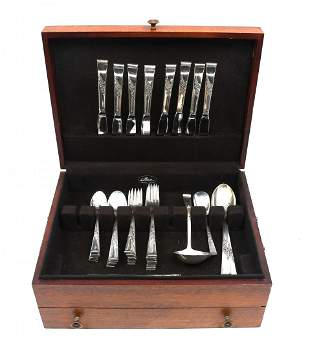 """42 PC. REED AND BARTON """"CLASSIC ROSE"""" STERLING FLATWARE"""