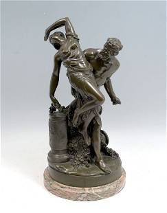 NEOCLASSICAL STYLE PATINATED BRONZE
