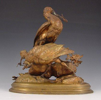 4: FERDINAND PAUTROT BIRD BRONZE