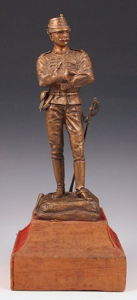9: CHARLES ANFRIE FRENCH SOLDIER BRONZE