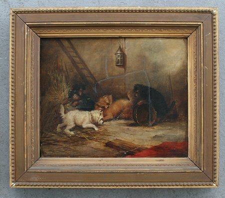 21: PAINTING OF 4 TERRIER DOGS