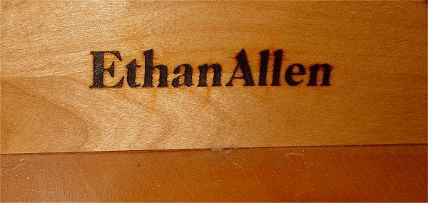 8A: ETHAN ALLEN MAHOGANY SECRETARY BOOKCASE - 4