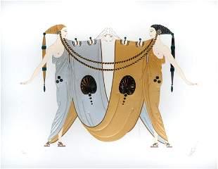 ERTE FOIL STAMPED SERIGRAPH SISTERS