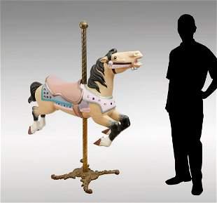 ALLAN HERSCHELL CAROUSEL HORSE ON STAND