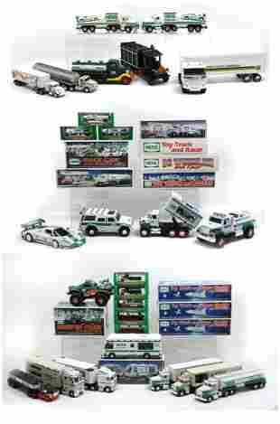 LARGE 34 PC. HESS TOY TRUCK COLLECTION