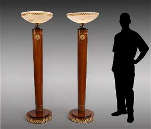 2 PIECE FAUX INLAID FLOOR LAMPS