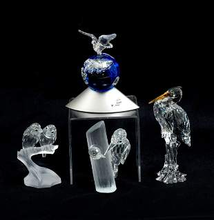 SWAROVSKI 4 PIECE BIRD LOT