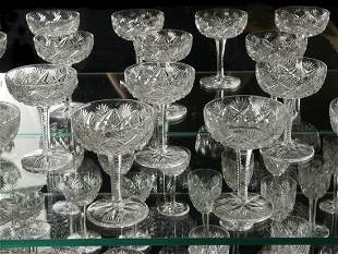 60 PC ST. JOSEPH FLORENCE PINEAPPLE PATTERN CRYSTAL