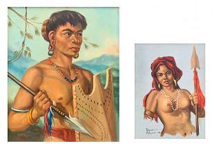 TWO FILIPINO PAINTINGS