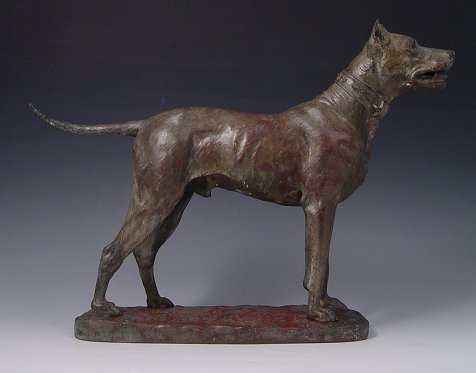 4: FRENCH BRONZE  DOG PRESA C PIERRE DE LAMBERTYE