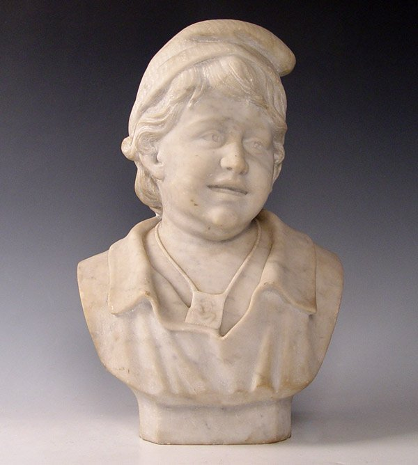 5: MARBLE SCULPTURE OF YOUNG BOY