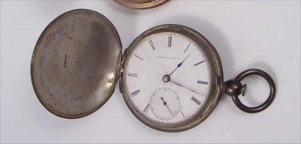 279: 1867 FIRST YEAR ELGIN NATIONAL POCKET WATCH  SZ 18