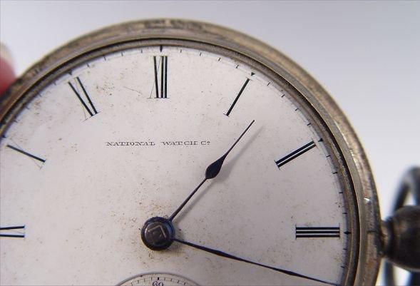 279: 1867 FIRST YEAR ELGIN NATIONAL POCKET WATCH  SZ 18 - 2