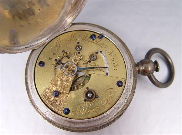 279: 1867 FIRST YEAR ELGIN NATIONAL POCKET WATCH  SZ 18 - 4