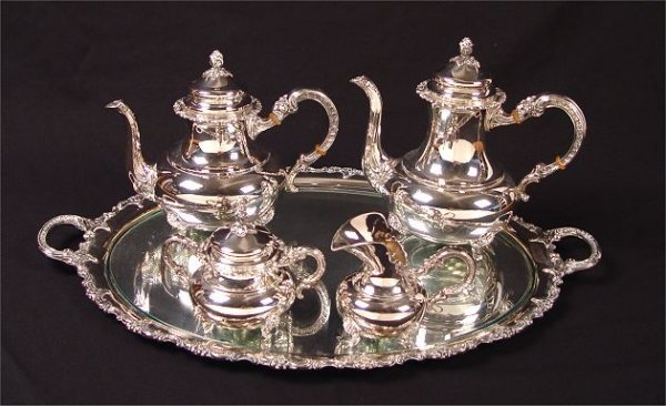 13: GAYER & KRAUSS 4 PIECE STERLING COFFEE TEA SERVICE