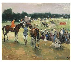 MARCEL DYF PAINTING STEEPLECHASE