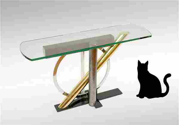 KAIZO OTO MODERN GLASS CONSOLE TABLE