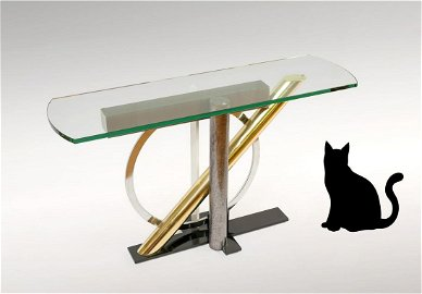 KAIZO OTO MODERN GLASS CONSOLE TABLE