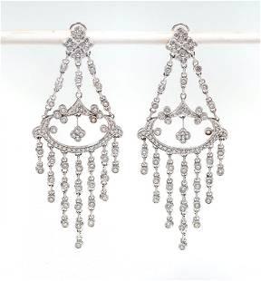 14K DIAMOND CHANDELIER EARRINGS