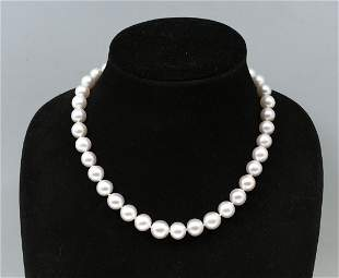 14K WHITE SOUTH SEA PEARL NECKLACE