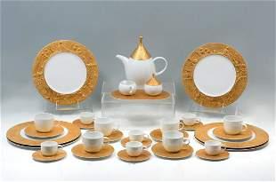 BJORN WIINBLAD ROSENTHAL MAGIC FLUTE GOLD COFFEE SET