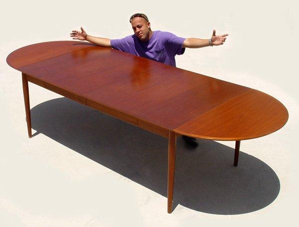 6: ARNE VODDER DANISH MODERN TEAK DINING TABLE