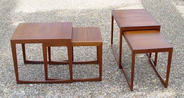 16: DANISH MODERN TEAK NEST TABLES