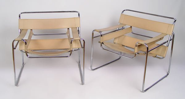19: PAIR WASSILY CHAIRS DESIGN BY MARCEL BREUER