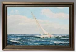 135: M.G. FRIEDRICH CLIPPER SHIP PAINTING