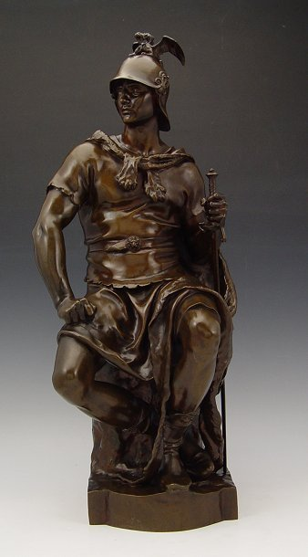 15: DUBOIS WARRIOR BRONZE BARBEDIENNE FOUNDRY
